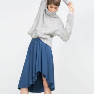 Zara Skirts - Gathered High-Low Skirt (NWT)